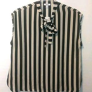 Bar lll Black/White/Gold stripe Top 1X or 3X Nwt
